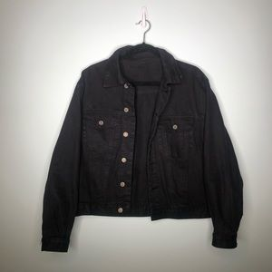 Black Denim Jacket J. Galt - Brandy Melville, Sz S